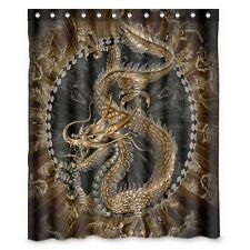 Chinese Dragon Oriental Chinese Polyester Fabric Shower Curtain 60 x 72 inch