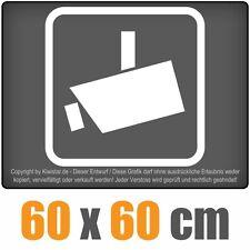 Videoüberwacht  chf0571 weiß 60 x 60 cm Heckscheibenaufkleber chf
