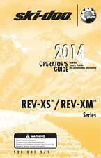 Ski-Doo owners manual book 2014 REV-XS & REV-XM / GSX LE & Summit 146""