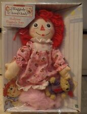 "New 2002 Classic  15"" Bedtime Raggedy Ann and Mini Bear Hasbro Doll"