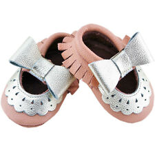 Genuine LEATHER Mary Jane Lace MOCCASIN for Baby/ Toddler