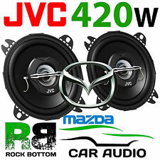 "JVC Mazda MX5 MK1 1989 - 1998 4"" 10cm 2 Way 420 Watts Headrest Car Speakers PAIR"
