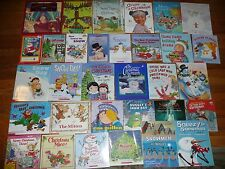 Lot of 32 CHRISTMAS & Winter PICTURE BOOKS New & Vintage Titles SNOW Snowman ++