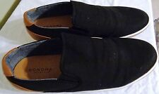 Men's Sonoma Hamilton Black Loafers Slip On Casual /Dress Shoes Size 13 Fabric