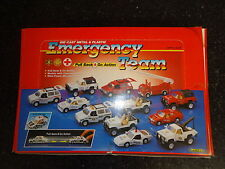 WELLY NEW 12 DIECAST DIE CAST EMERGENCY VEHICLES TOY CARS SET POLICE FIRE NIB