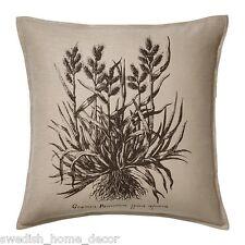 """Ikea FJALLJUNG Pillow & Cover Botanical Motif Beige  20 X 20"""""""