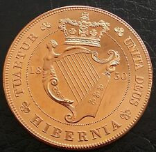 1830 Ireland Retro Pattern Proof Crown Pure Copper George IV Coin Hibernia