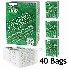 40 Genuine Numatic HENRY HETTY Bags HEPA FLO HEPAFLO Vacuum Cloth Hoover Bag