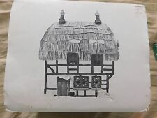 DEPT.56 DICKENS VILLAGE THATCHED ROOF COTTAGE W/BOX 1985