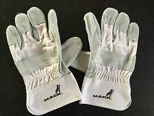 New Genuine Mack Bulldog Cowhide & Canvas Work Rigger Safety Style Gloves
