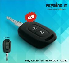 Keyzone Silicone Car Key Cover fit for Renault Duster 2016 remote key (black)