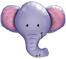 "XL 39"" Ellie The Elephant Super Shape Mylar Foil Balloon Party Decoration"