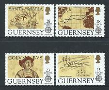 GUERNSEY 1992 EUROPA COLUMBUS SET OF 4 UNMOUNTED MINT, MNH