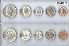 1948-S US Mint set - 5 Choice Brillaint Uncirculated coins in a Whitman holder