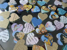 145 DISNEY ALLADIN TABLE LARGE PAPER HEARTS  WEDDING CONFETTI DECORATIONS