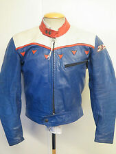 "VINTAGE DAINESE CAFE RACER MOTO in Pelle Giacca Biker L 42 ""euro 52"