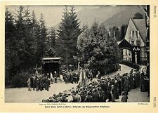 Kaiser Franz Josef in Aussee Ansprache des Bürgermeisters Hölzlsauer Graf...1902