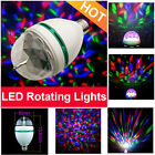 3W Crystal Ball Rotating LED Lamp RGB Stage Lights E27 for Party Disco DJ Bulb #