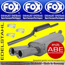 FOX ANLAGE AUSPUFF AUDI A4 B5 LIMO/AVANT 2x76 mm 2.4 2.8