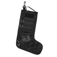 Military Tactical MOLLE Holiday Christmas Stocking w/ Handle Gift Black 15x10