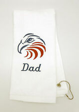 Personalized Embroidered Golf/Bowling Towel American Eagle USA