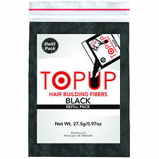Toppik hair building fiber Refill with TOPUP - Black 27gm 100% Natural