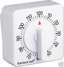 Kitchen Craft Mechanical Wind Up 120 Minute Kitchen Cooking Timer KCTIM2HR
