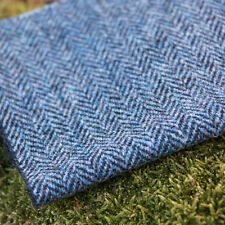 Harris Tweed Curtain/Upholstery Fabric - Herringbone Ocean Spray - per metre