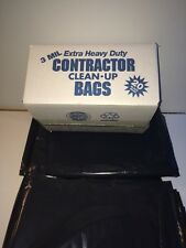 Contractor Trash Bags 42 Gal  3 ML Heavy Duty 20 Count Free Shipping