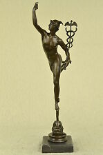 "21"" FRENCH GRAND TOUR BRONZE OF HERMES  MERCURY MESSENGER OF THE GODS NO RESERVE"