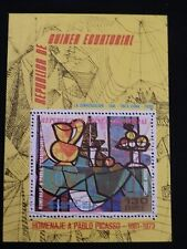 Republique de guinea ecuatorial nice sheet of pablo picasso european painters