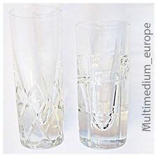 2 schwere 60er Jahre Cocktail Gläser Party Gläser dickwandiges Glas Rautenmuster