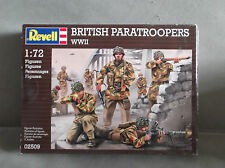 1:72 SCALE, REVELL, BRITISH. PARATROOPS, 50 UNPAINTED FIGURES (52 PIECES)