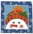 *New* LEE Holiday Winter Snowman handpainted Needlepoint Canvas on 16 Mesh