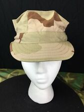 US MILITARY USMC 8-POINT DESERT CAMO UTILITY CAP DCU SIZE XSMALL NEW