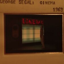 "George Segal ""Cinema 1963"" 35mm Color Slide. Pop Art"