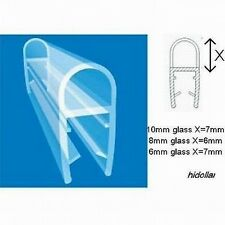 PVC PLASTIC SHOWERSCREEN SHOWER SCREEN DOOR WATER SEAL STRIP LINING 100cm 10mm