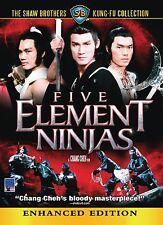 Five Element Ninjas ENHANCED WIDESCREEN - DVD With Slip Cover - English Audio