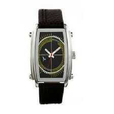 Henleys ARGD-FLY3  Men's Stainless Steel & Brown Leather Genuine Watch