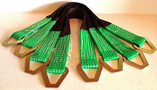 "Set of 4 - 2""x24"" Axle Straps Tie Downs - Green 3,335(lbs) workng Load Limit"