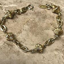 VTG Estate Signed Florenza Bracelet Designer Bold Gold Byzantine Revival Link