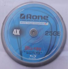 10x aone blu ray 4X 25GB full face imprimable