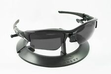 OAKLEY FLAK JACKET XLJ BLACK FRAME & REVANT STEALTH POLARIZED CUSTOM LENSES