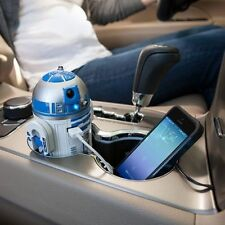 R2D2 R2-D2 STAR WARS USB CAR CELL PHONE TABLET CHARGER LIGHTS SOUND MOTION