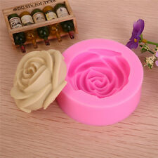 1pc 3D Rose Flower Mould Tools DIY Fondant Cake Sugarcraft Cutter Silicone