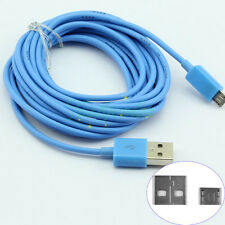 Baby Blue Universal 3M 10FT Long Micro USB Data Charger Cable for Galaxy LG HTC
