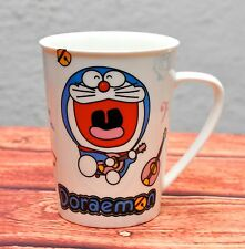 Singing Doraemon Coffee Mug Ceramic Handle Playing Guitar Music Cup Japanese Cat