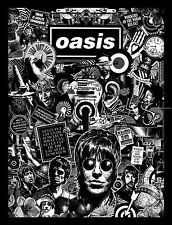 Oasis Black and White Poster Print A4