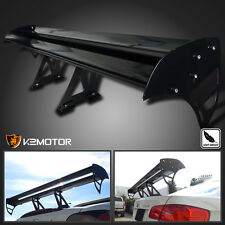 F1 Style Adjustable Angle Double Aluminum GT Spoiler Wing Black