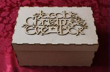MDF Wooden Personalised Christmas Eve Box and Topper Christmas Decoration